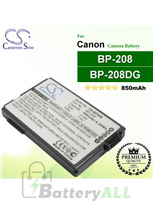 CS-BP208 For Canon Camera Battery Model BP-208 / BP-208DG