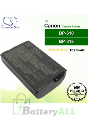 CS-BP315 For Canon Camera Battery Model BP-310 / BP-315