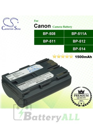 CS-BP511 For Canon Camera Battery Model BP-508 / BP-511 / BP-511A / BP-512 / BP-514