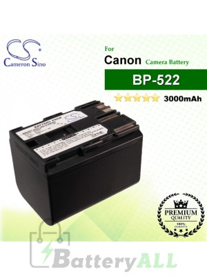 CS-BP522 For Canon Camera Battery Model BP-522