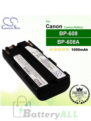 CS-BP608 For Canon Camera Battery Model BP-608 / BP-608A