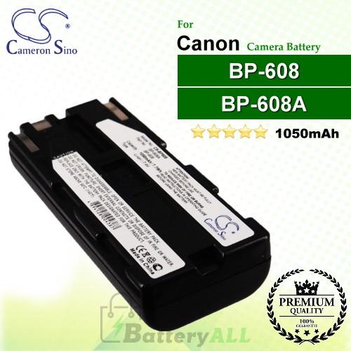 CS-BP608 For Canon Camera Battery Model BP-608 / BP-608A