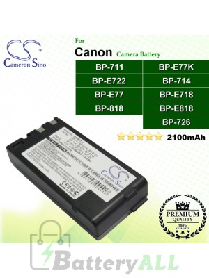 CS-BP711 For Canon Camera Battery Model BP-711 / BP-714 / BP-726 / BP-818 / BP-E718 / BP-E722 / BP-E77 / BP-E77K / BP-E818
