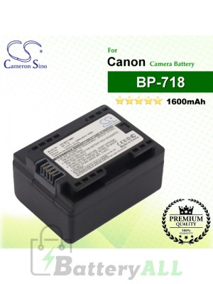 CS-BP718MC For Canon Camera Battery Model BP-718