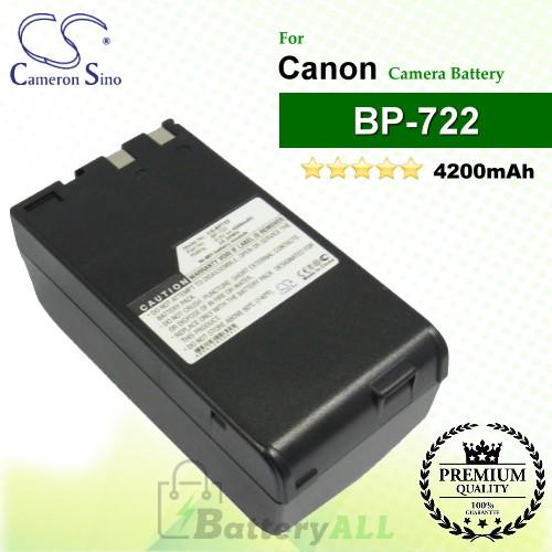 CS-BP722 For Canon Camera Battery Model BP-722