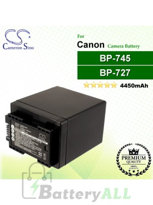 CS-BP745MC For Canon Camera Battery Model BP-745