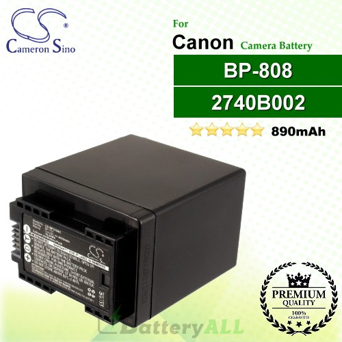 CS-BP808 For Canon Camera Battery Model 2740B002 / BP-808