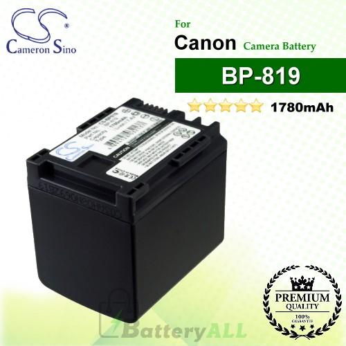 CS-BP819 For Canon Camera Battery Model BP-819