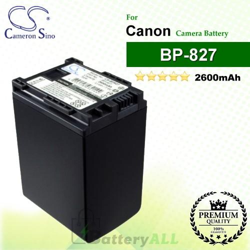 CS-BP827 For Canon Camera Battery Model BP-820 / BP-827