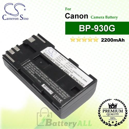 CS-BP930G For Canon Camera Battery Model BP-930G