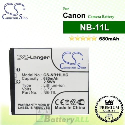 CS-NB11LHC For Canon Camera Battery Model NB-11L / NB-11LH