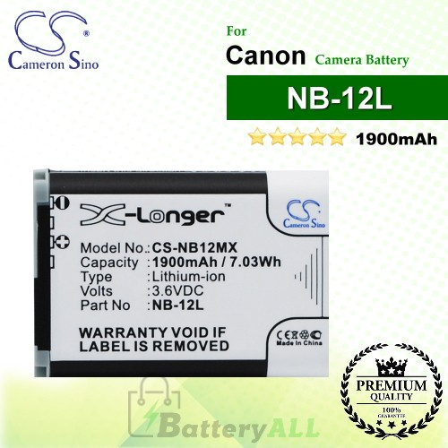 CS-NB12MX For Canon Camera Battery Model NB-12L