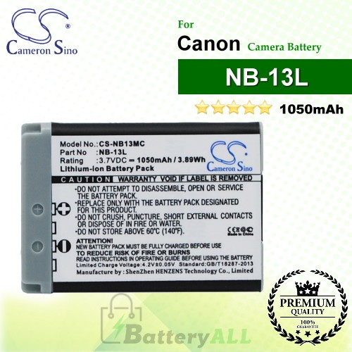 CS-NB13MC For Canon Camera Battery Model NB-13L