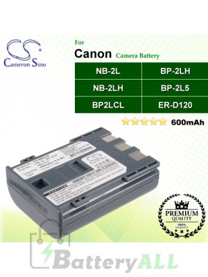 CS-NB2LH For Canon Camera Battery Model BP-2L5 / BP2LCL / BP-2LH / ER-D120 / NB-2L / NB-2LH