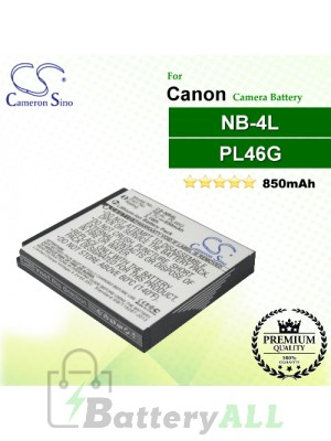 CS-NB4L For Canon Camera Battery Model NB-4L / PL46G