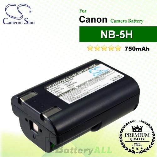 CS-NB5H For Canon Camera Battery Model NB-5H