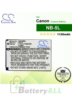 CS-NB5L For Canon Camera Battery Model NB-5L