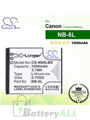 CS-NB6LMX For Canon Camera Battery Model NB-6L / NB-6LH