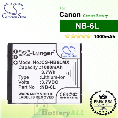 CS-NB6LMX For Canon Camera Battery Model NB-6L / NB-6LH