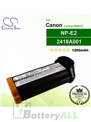 CS-NPE2 For Canon Camera Battery Model 2418A001 / NP-E2