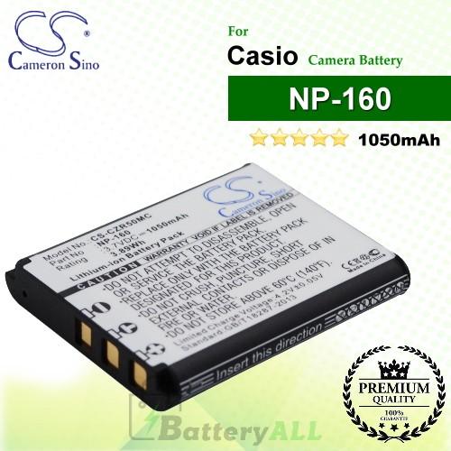 CS-CZR50MC For Casio Camera Battery Model NP-160