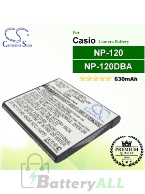 CS-NP120CA For Casio Camera Battery Model NP-120 / NP-120DBA