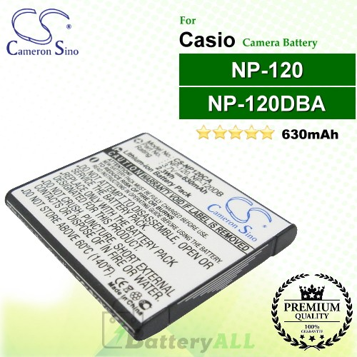 CS-NP120CA For Casio Camera Battery Model NP-120 / NP-120DBA