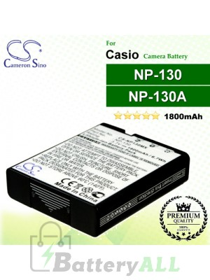 CS-NP130MX For Casio Camera Battery Model NP-130 / NP-130A
