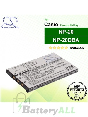 CS-NP20CA For Casio Camera Battery Model NP-20 / NP-20DBA