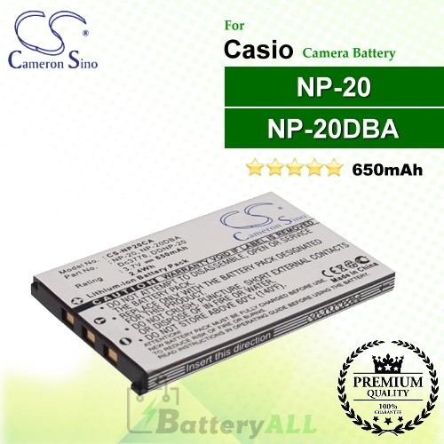 CS-NP20CA For Casio Camera Battery Model NP-20 / NP-20DBA
