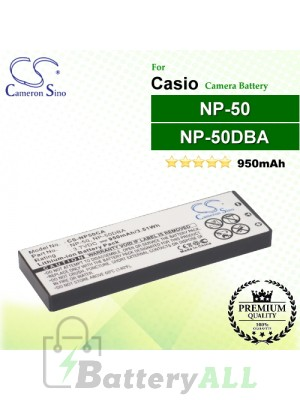 CS-NP50CA For Casio Camera Battery Model NP-50 / NP-50DBA