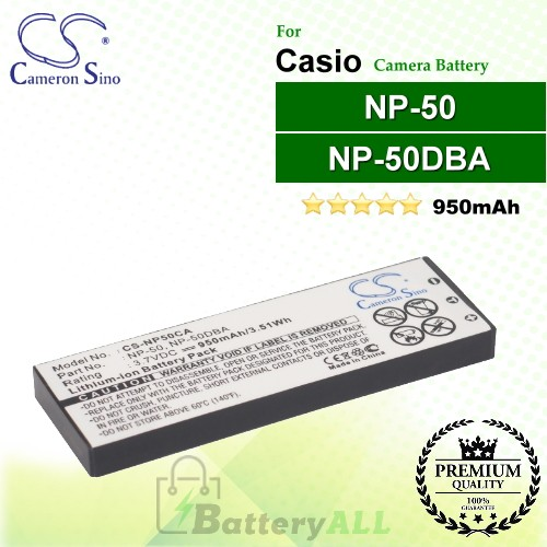 CS-NP50CA For Casio Camera Battery Model NP-50 / NP-50DBA