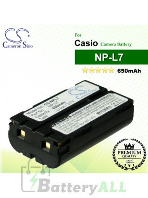 CS-NPL7 For Casio Camera Battery Model NP-L7