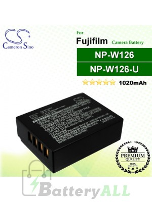 CS-NP126FU For Fujifilm Camera Battery Model NP-W126 / NP-W126S