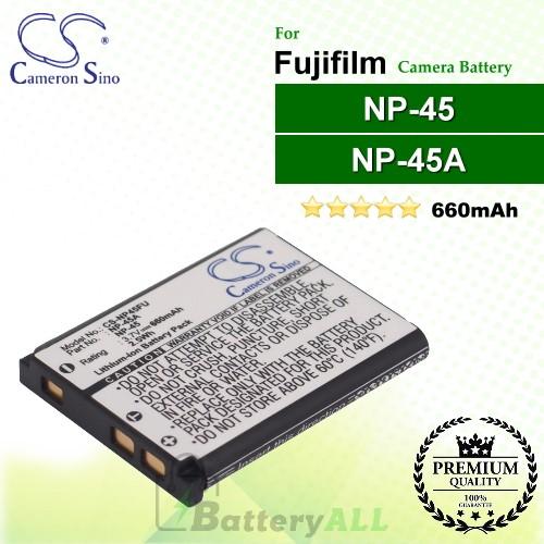 CS-NP45FU For Fujifilm Camera Battery Model NP-45 / NP-45A / NP-45B / NP-45S