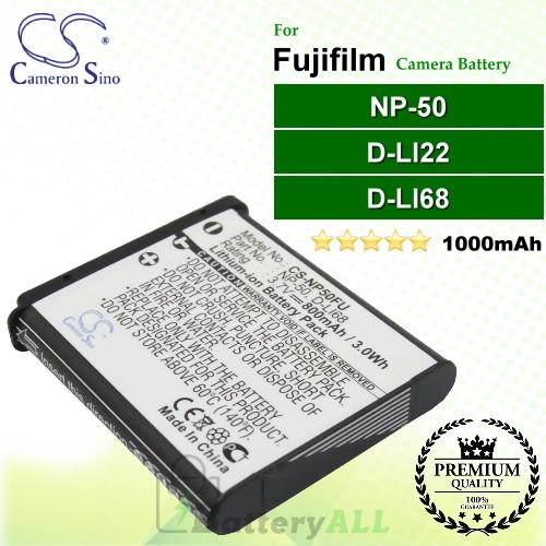 CS-NP50FU For Fujifilm Camera Battery Model NP-50 / NP-50A