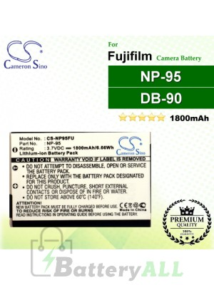 CS-NP95FU For Fujifilm Camera Battery Model NP-95