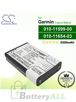 CS-GML100MX For Garmin Camera Battery Model 010-11599-00 / 010-11654-03
