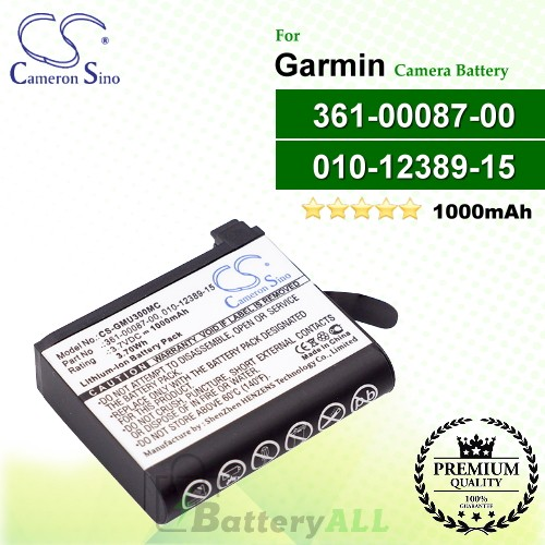 CS-GMU300MC For Garmin Camera Battery Model 010-12389-15 / 361-00087-00
