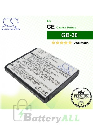 CS-GB20MC For GE Camera Battery Model GB-20