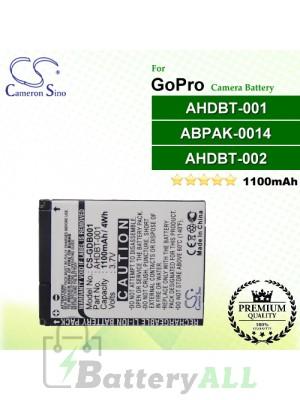 CS-GDB001 For GoPro Camera Battery Model ABPAK-001 / AHDBT-001 / AHDBT-002