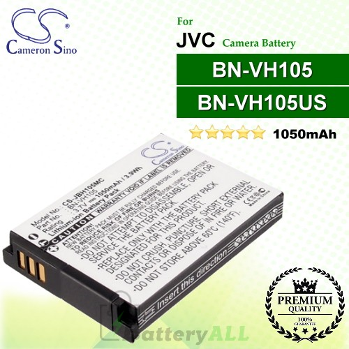 CS-JBH105MC For JVC Camera Battery Model BN-VH105 / BN-VH105US