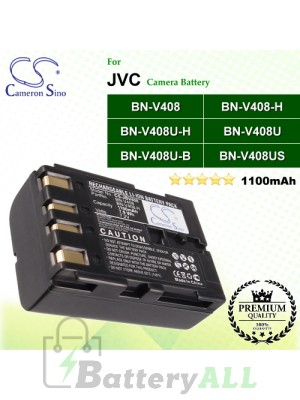 CS-JBV408 For JVC Camera Battery Model BN-V408 / BN-V408-H / BN-V408U / BN-V408U-B / BN-V408U-H / BN-V408US