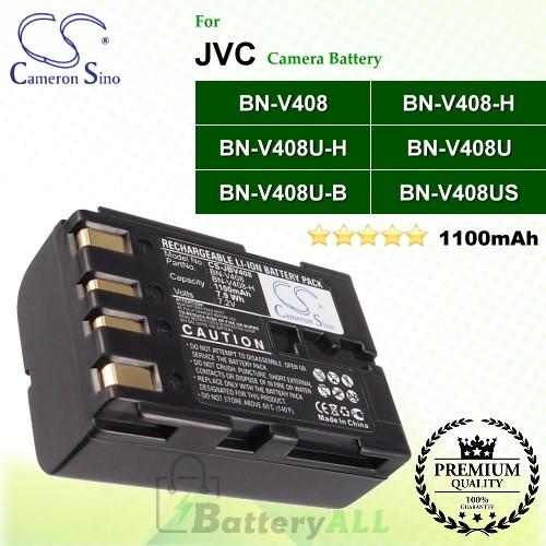 CS-JBV408 For JVC Camera Battery Model BN-V408 / BN-V408-H / BN-V408U / BN-V408U-B / BN-V408U-H / BN-V408US