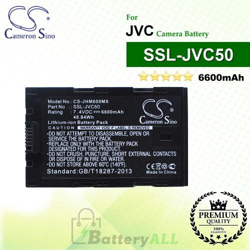 CS-JHM600MX For JVC Camera Battery Model SSL-JVC50
