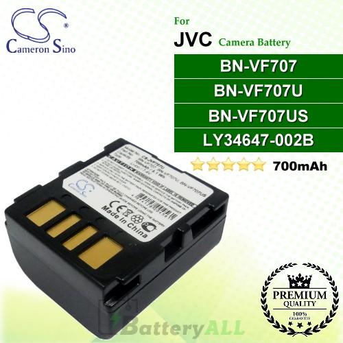 CS-JVF707U For JVC Camera Battery Model BN-VF707 / BN-VF707U / BN-VF707US / LY34647-002B
