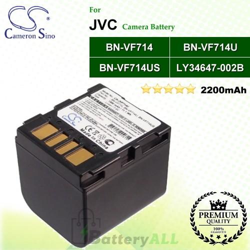 CS-JVF714U For JVC Camera Battery Model BN-VF714 / BN-VF714U / BN-VF714US / LY34647-002B