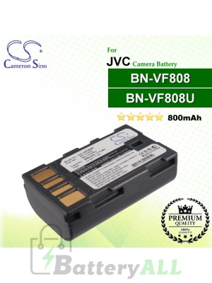 CS-JVF808D For JVC Camera Battery Model BN-VF808 / BN-VF808U