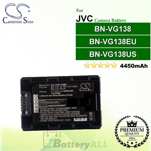 CS-JVG138MC For JVC Camera Battery Model BN-VG138 / BN-VG138EU / BN-VG138US