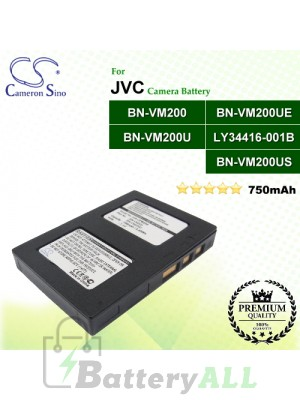 CS-JVM200 For JVC Camera Battery Model BN-VM200 / BN-VM200U / BN-VM200UE / BN-VM200US / LY34416-001B